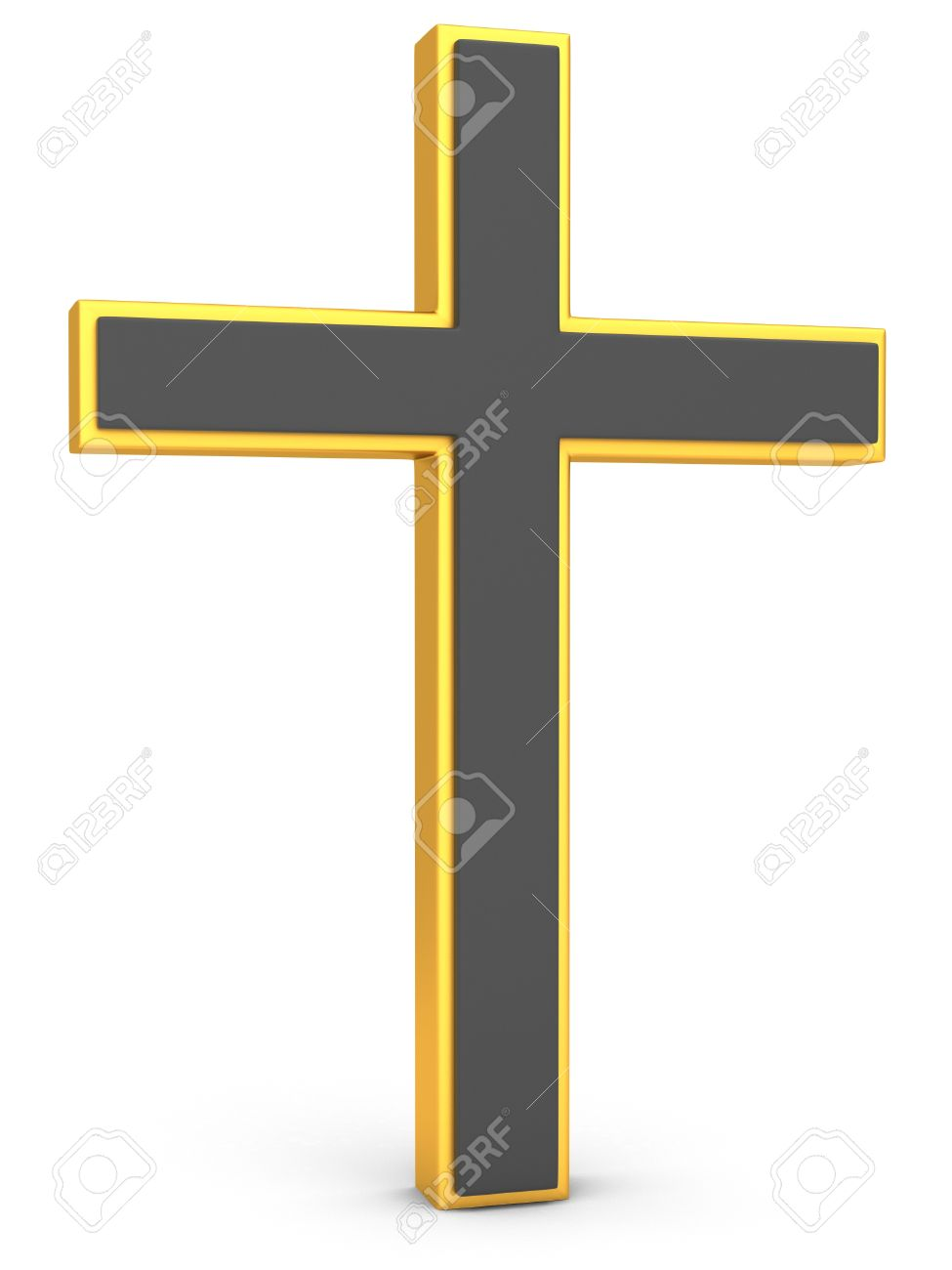 Christianity symbol gold cross on a white background 3d christianity symbol gold cross on a white background 3d illustration stock illustration 63885911 buycottarizona