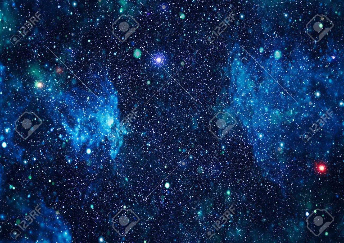 Beautiful space background with stardust and stars  Deep far