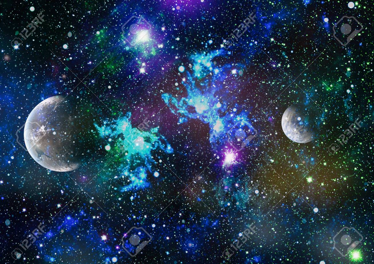 Stars Of A Planet And Galaxy In A Free Space Stock Photo Picture And Royalty Free Image Image 88415049