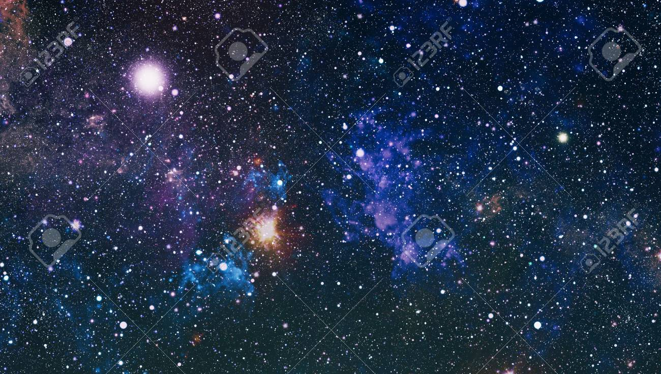colorful deep space universe concept background stock photo