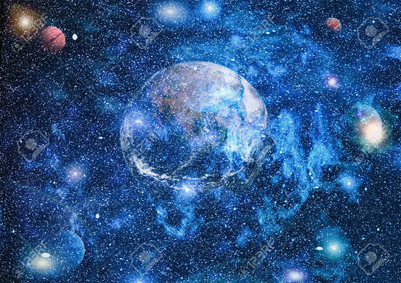 Earth In The Outer Space Collage Abstract Wallpaper Our Home