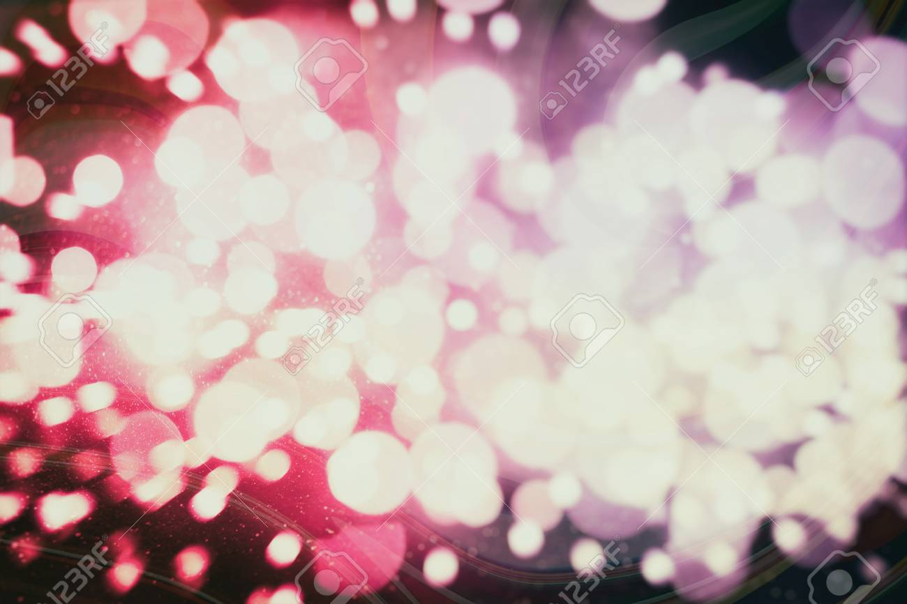 Abstract Blurred And Silver Glittering Shine Bulbs Lights Background Blur