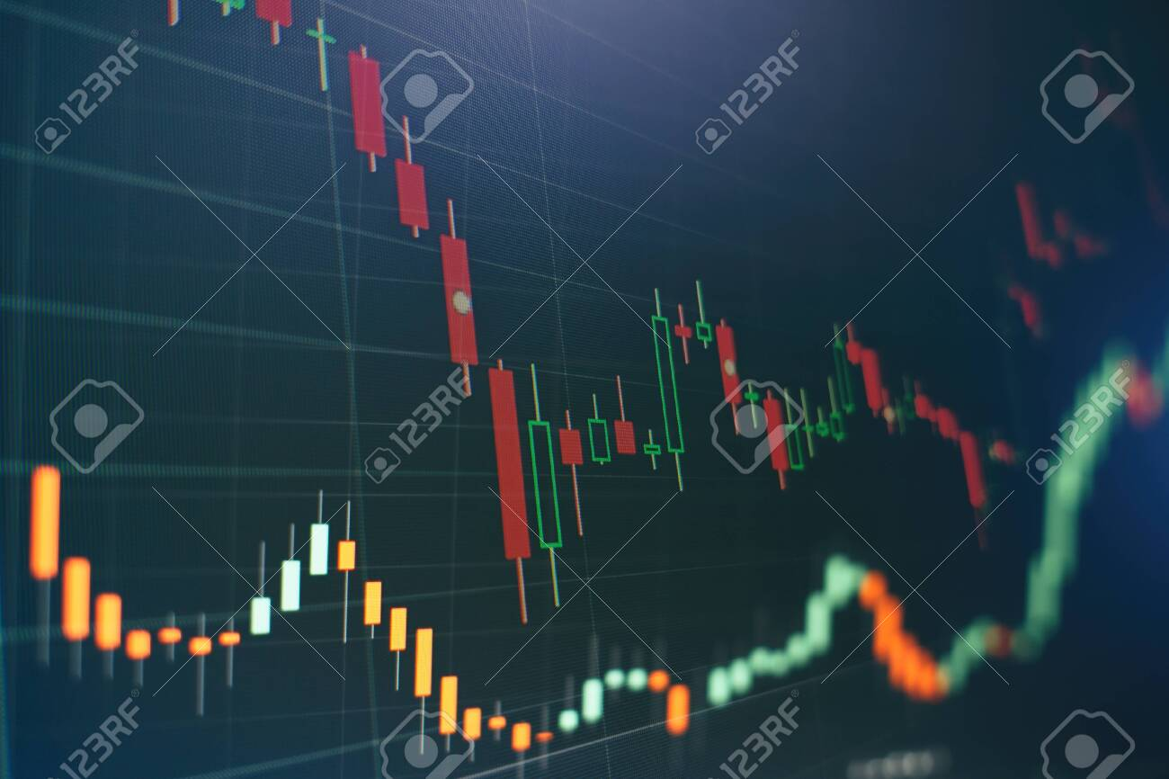 Economic graph with diagrams on the stock market, for business and financial concepts and reports. - 130710038