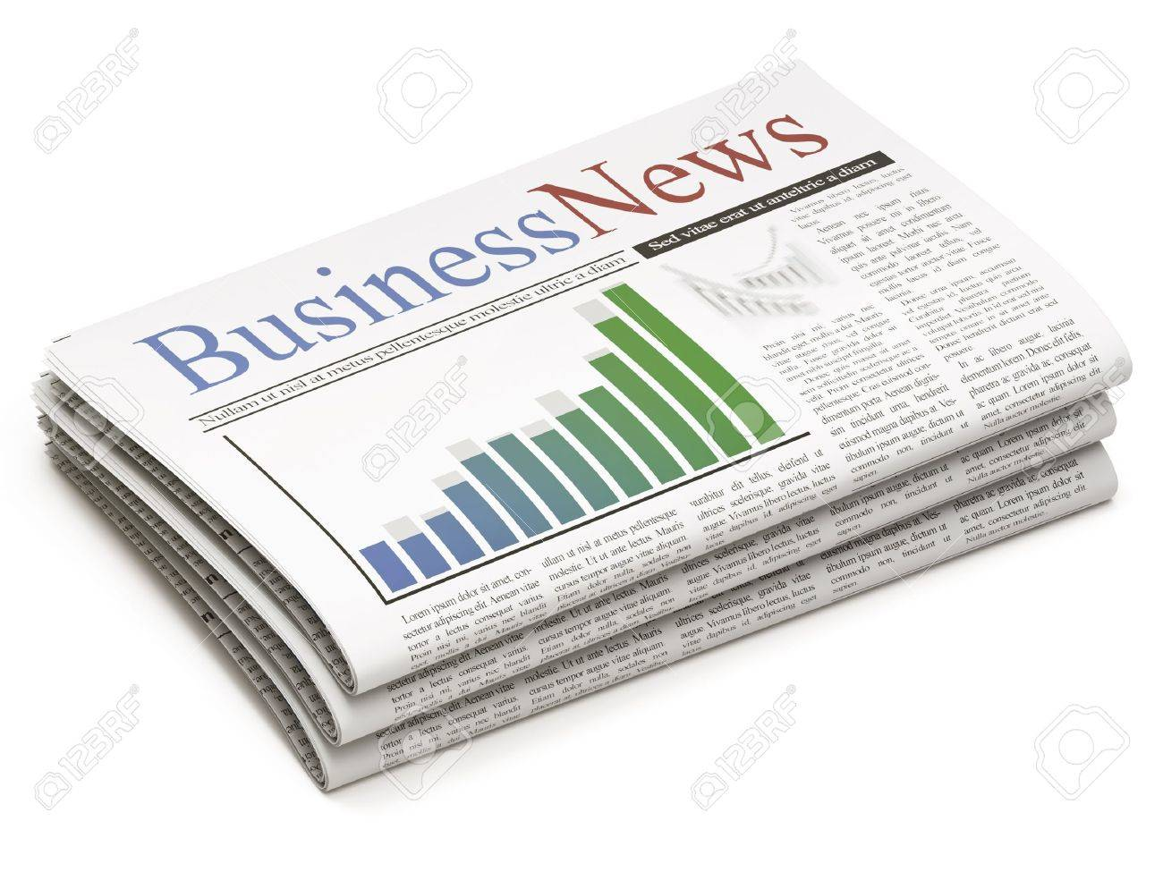 Newspapers stack on white background Stock Photo - 10546922