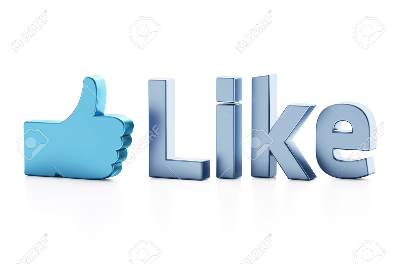 Like word 3d  render on white background Stock Photo - 11699390