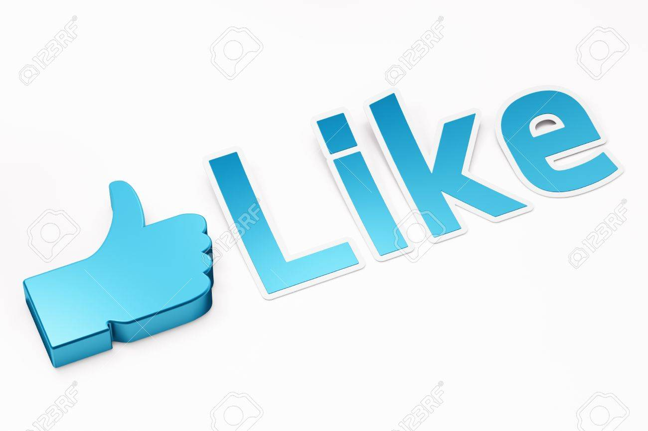 Like word 3d  render on white background Stock Photo - 11699434