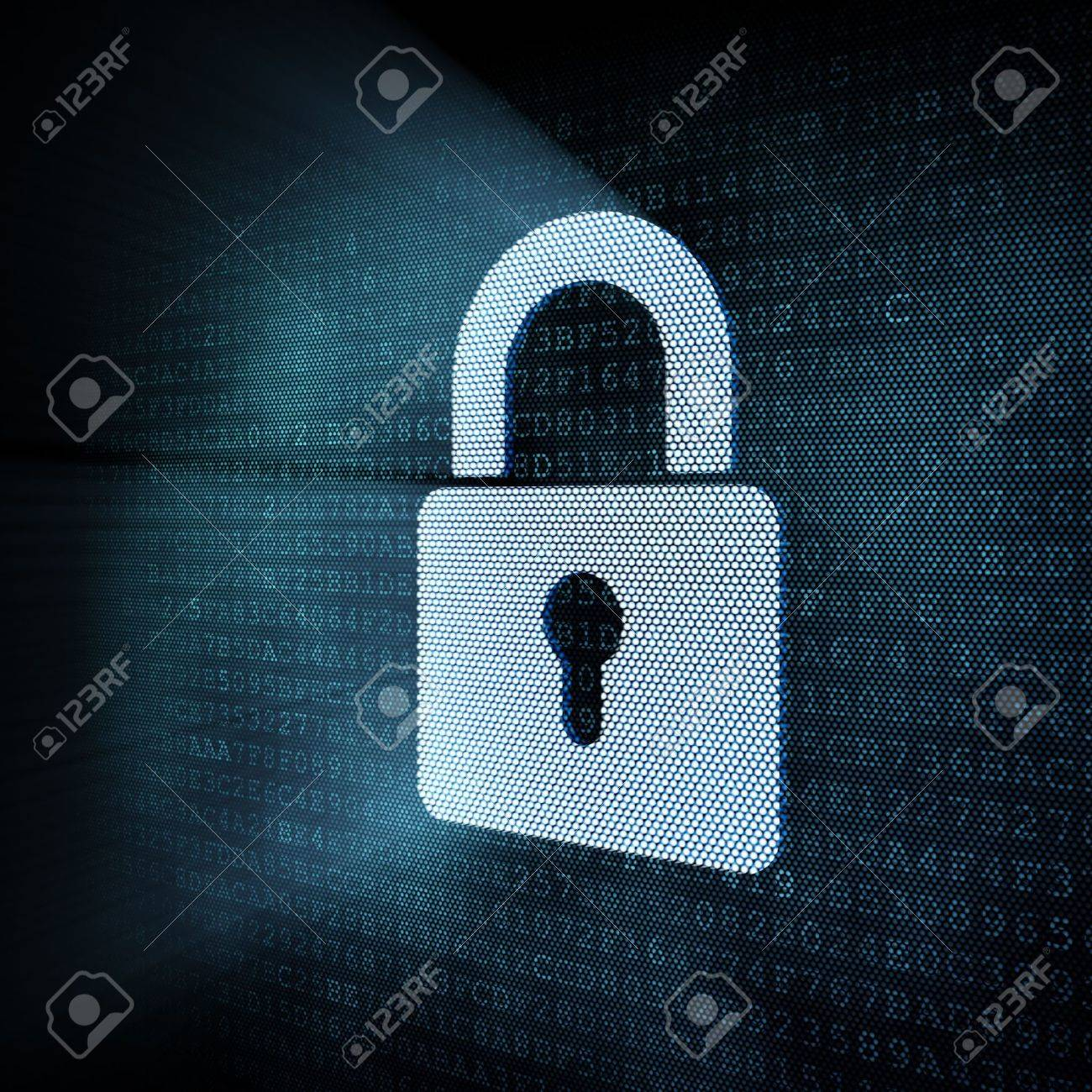 Digital padlock, 3d render Stock Photo - 12111236
