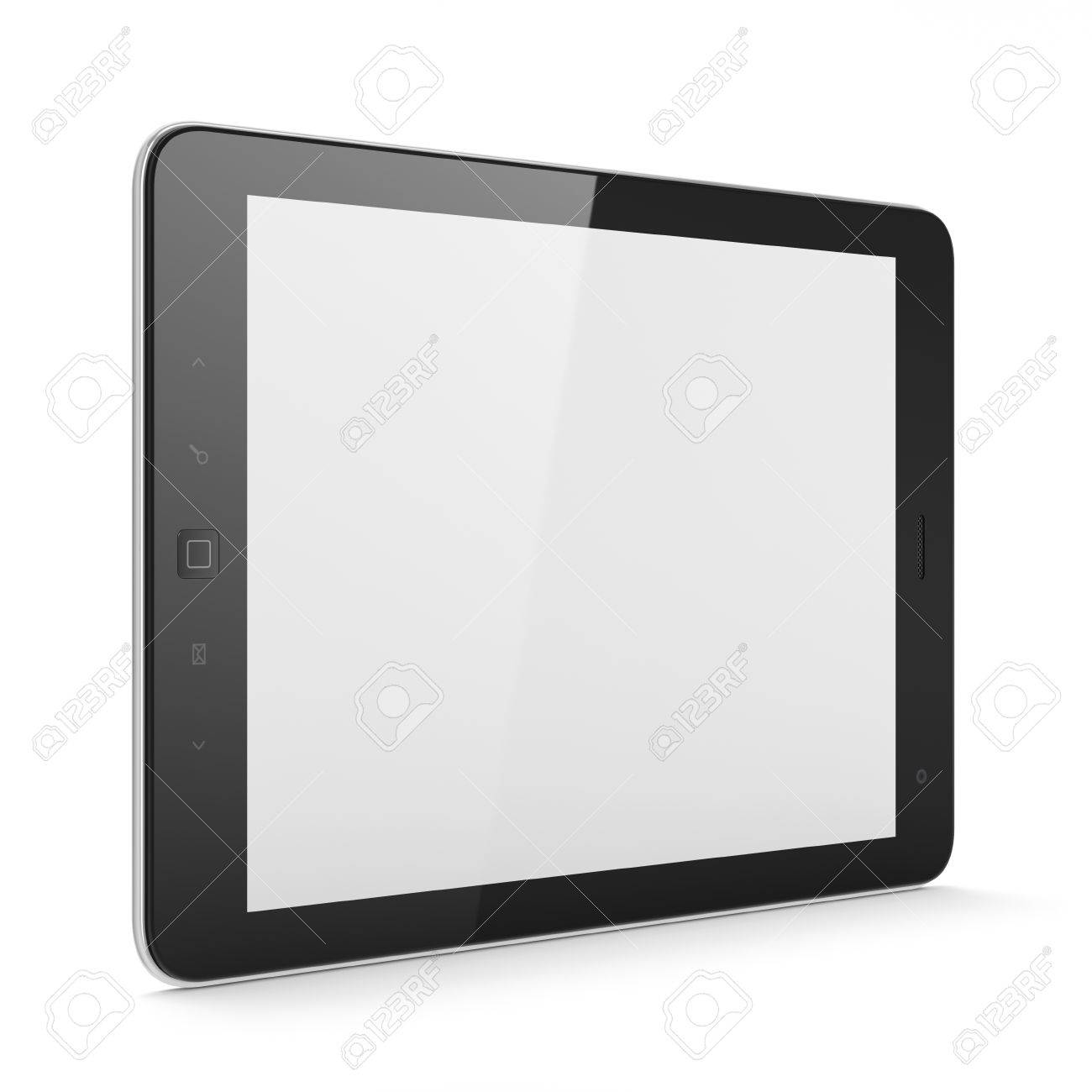 High-detailed black tablet pc on white background, 3d render Stock Photo - 12375127