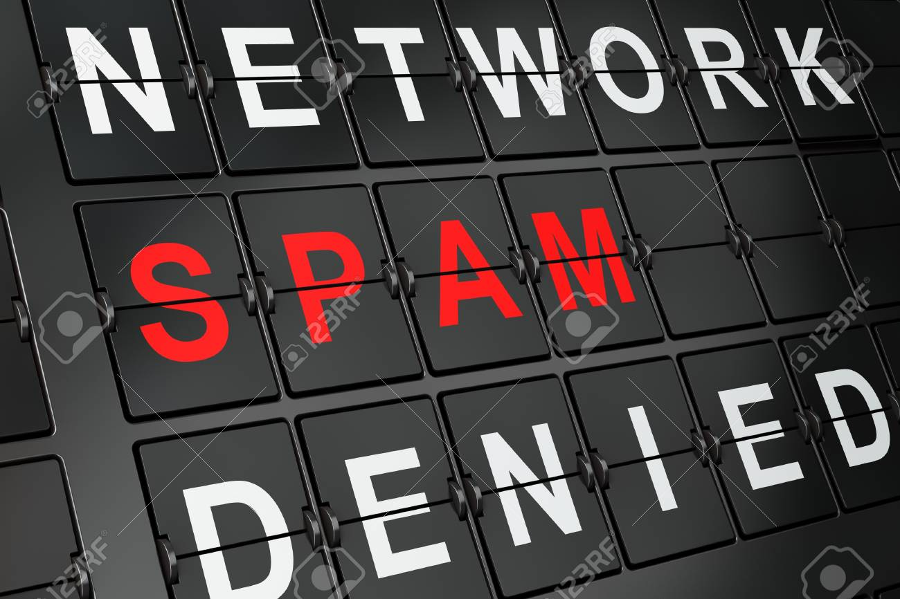 Security concept  Spam on airport board background, 3d render Stock Photo - 19115082