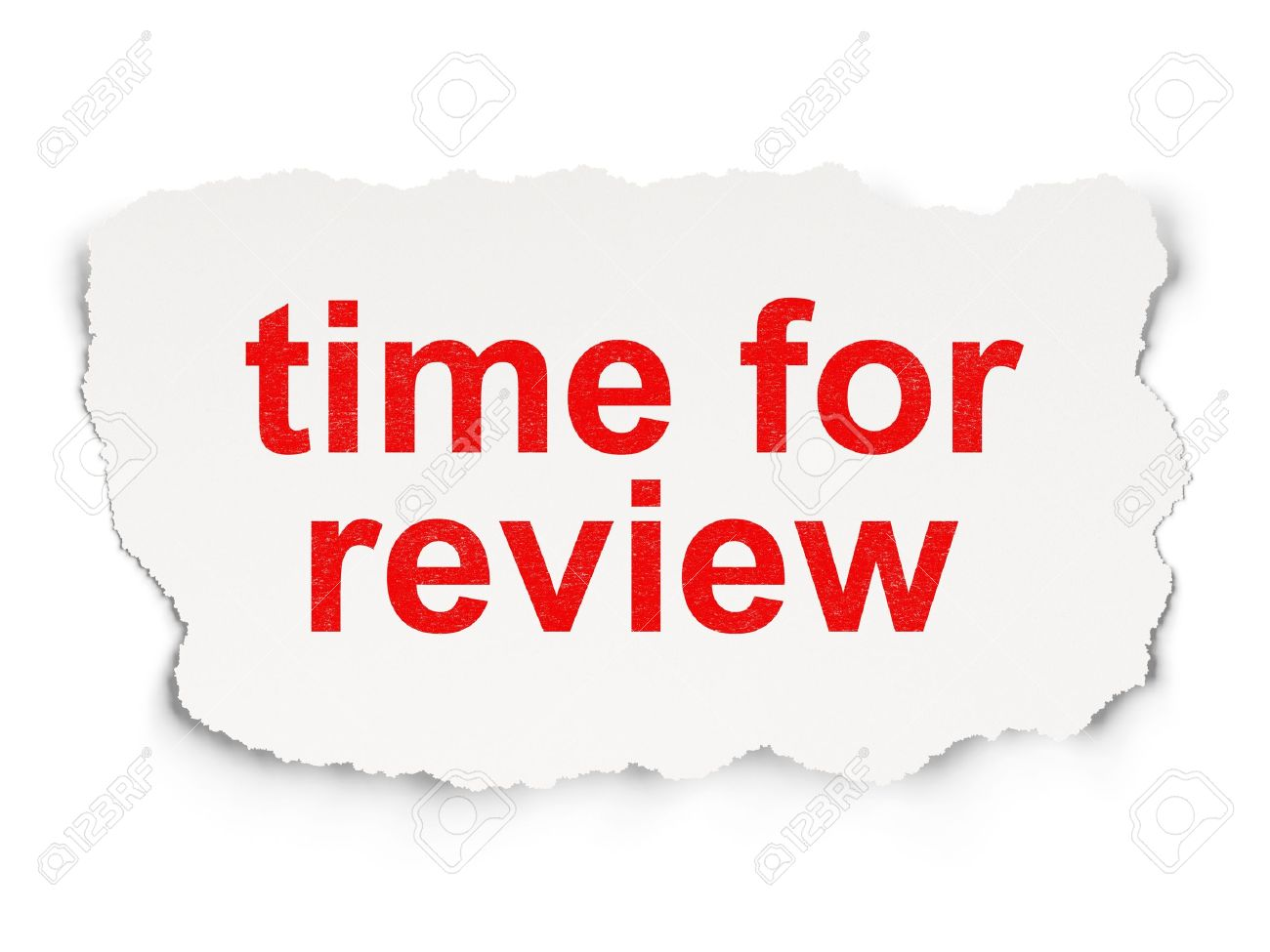 Timeline concept: torn paper with words Time for Review on Paper background, 3d render Stock Photo - 21444917