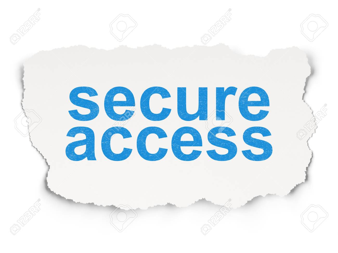 Security concept: torn paper with words Secure Access on Paper background, 3d render Stock Photo - 21514654
