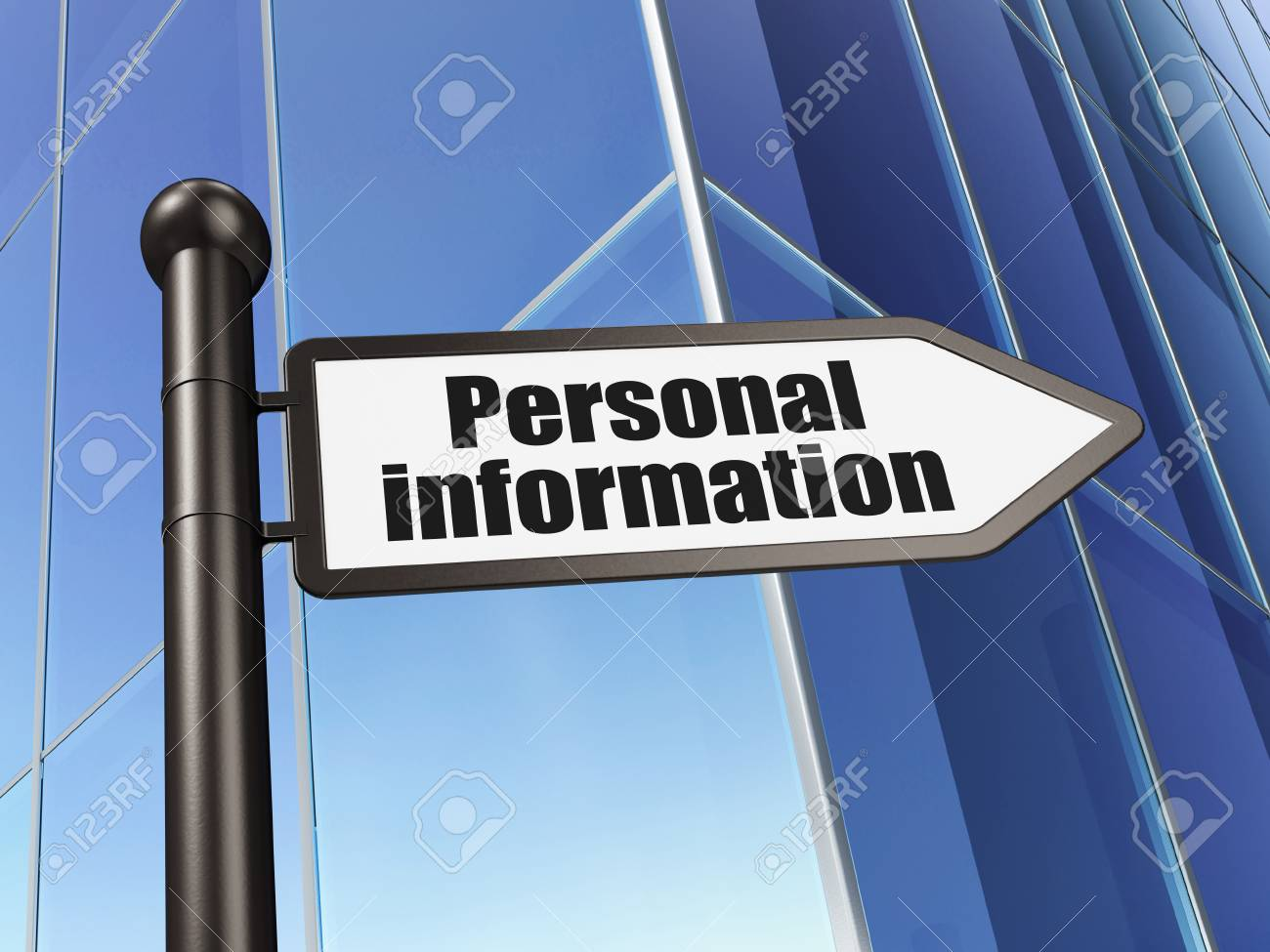 Protection concept: Personal Information on Building background, 3d render Stock Photo - 22841421