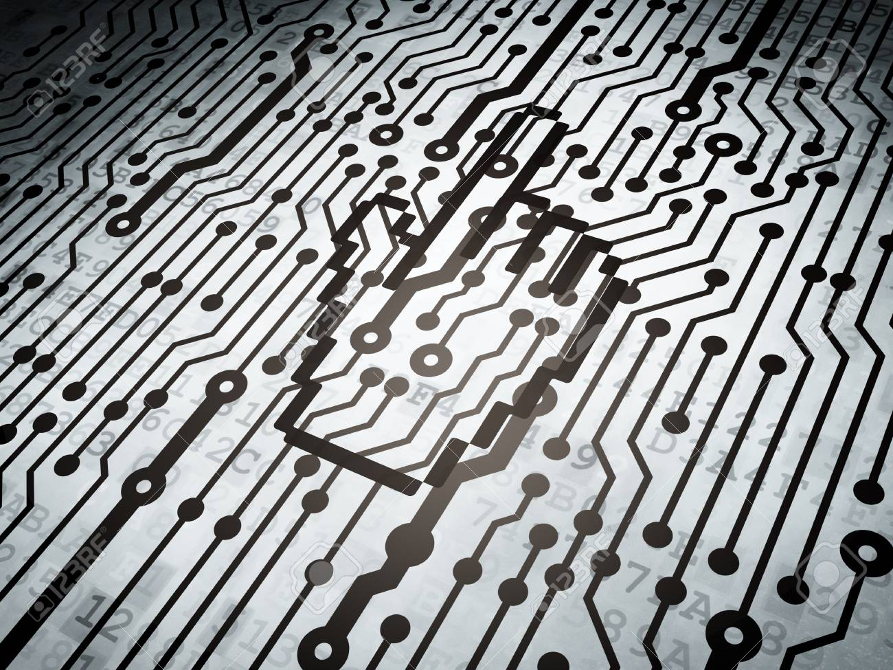 Web Development Concept Circuit Board With Mouse Cursor Icon Stock Photo 3d Render