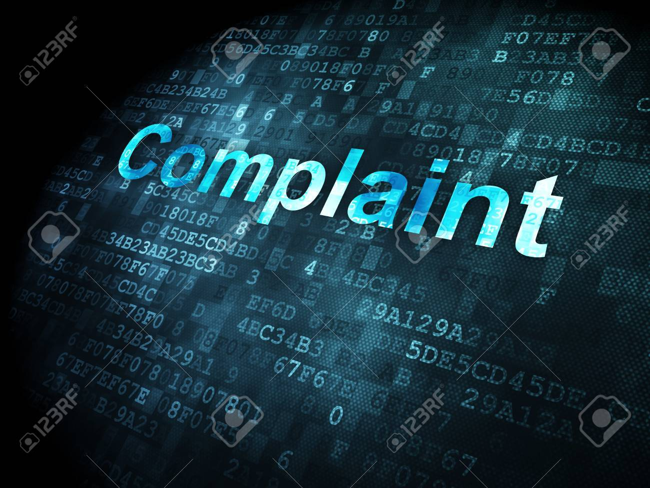 Law Concept Pixelated Words Complaint On Digital Background – Complaint Words