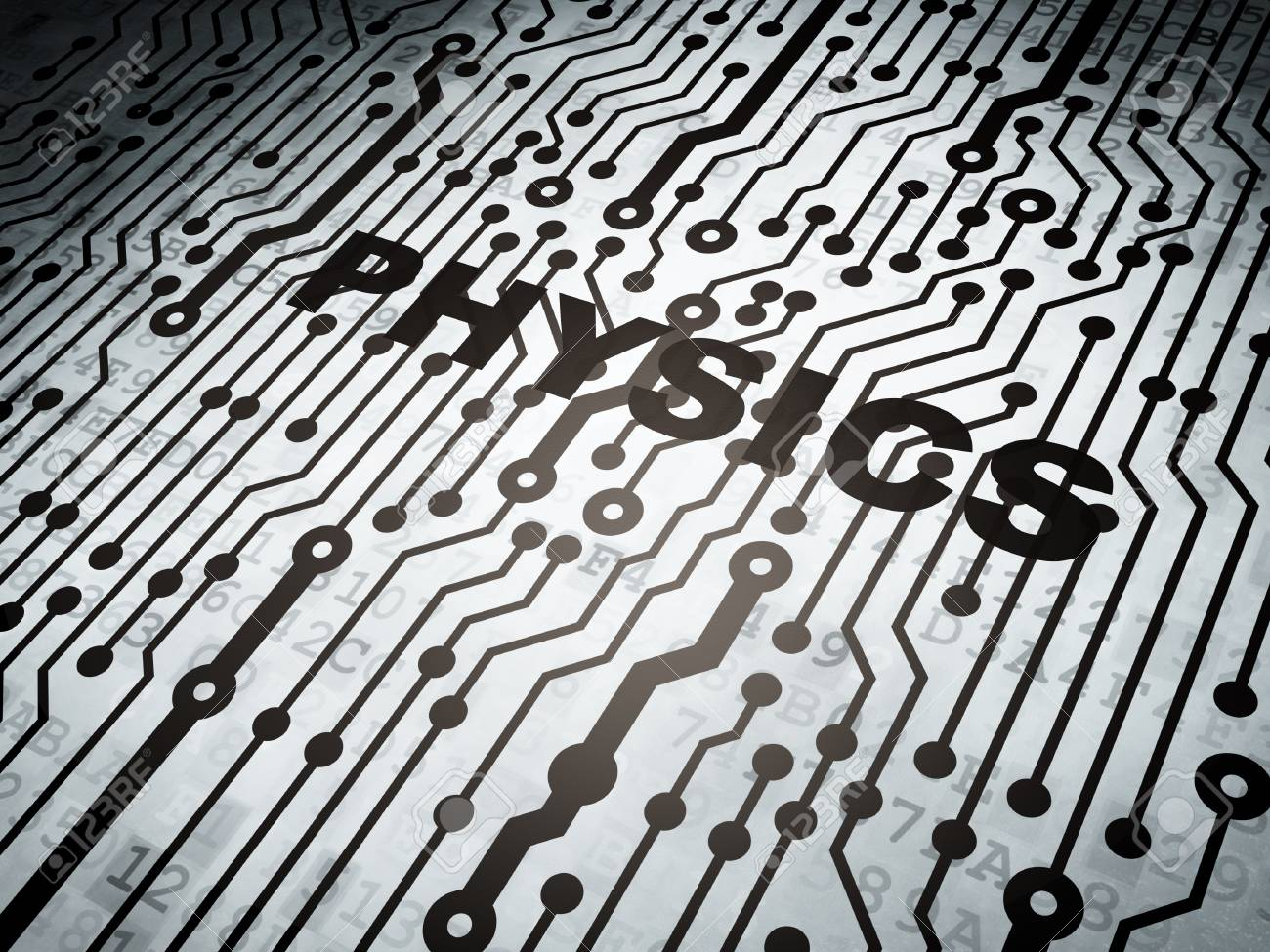 Education Concept: Circuit Board With Word Physics, 3d Render Stock ...