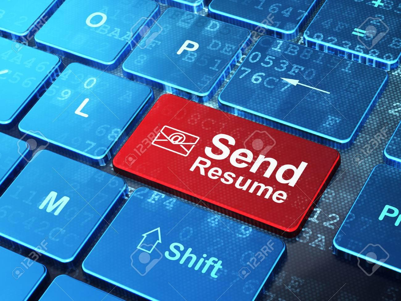 Finanzkonzept Computer Tastatur Mit E Mail Symbol Und Wort Senden