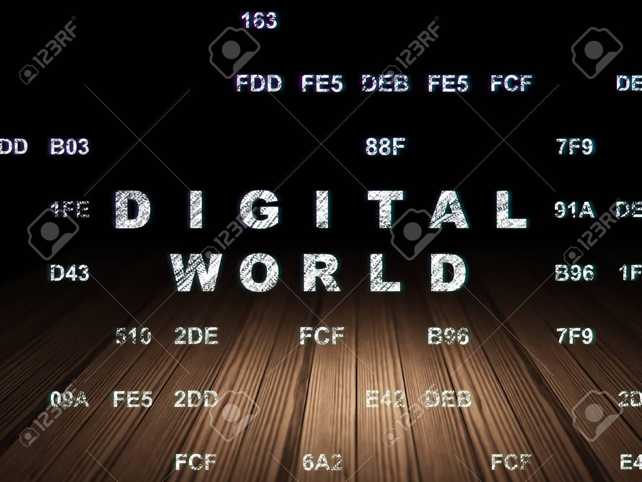 Concepto De Información: Brillante Mundo Digital De Texto En El ...