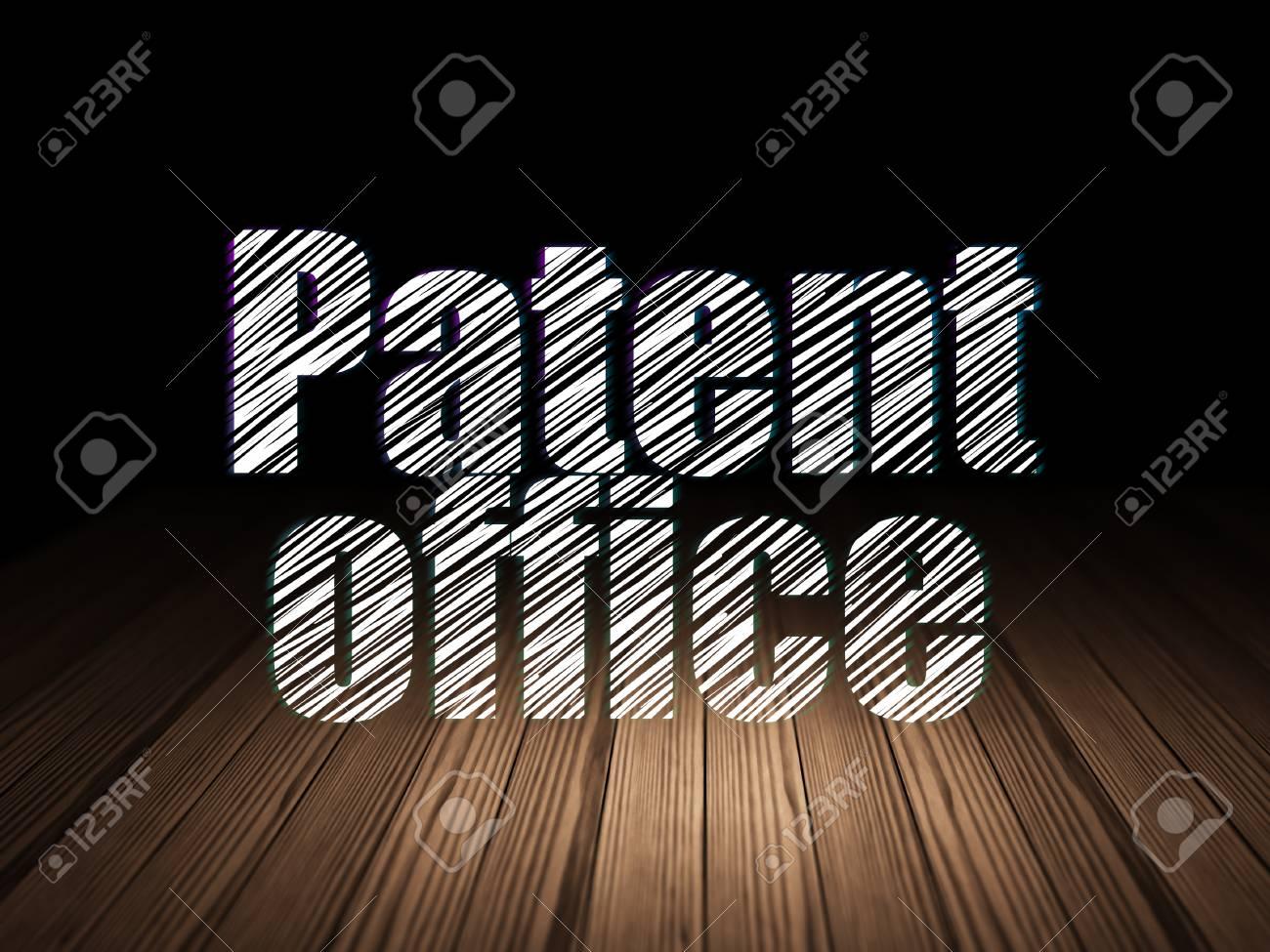 Notion de droit: bureau de brevet de texte rougeoyant dans la pièce