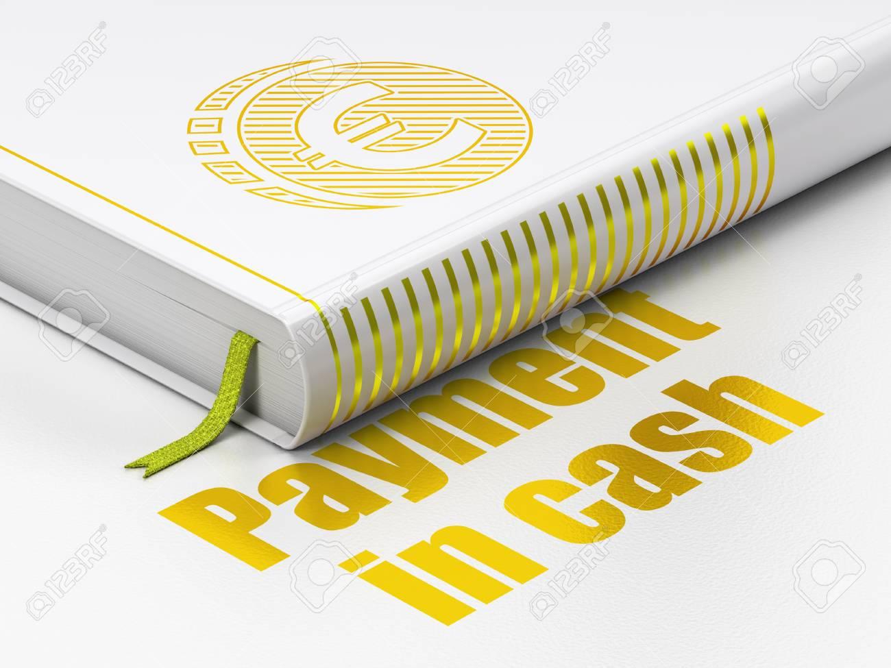 Banking Konzept Geschlossen Buch Mit Gold Euro Münzen Symbol Und