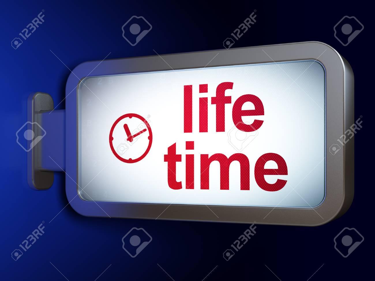 Concepto Del Tiempo Tiempo De La Vida Y El Reloj De La Publicidad