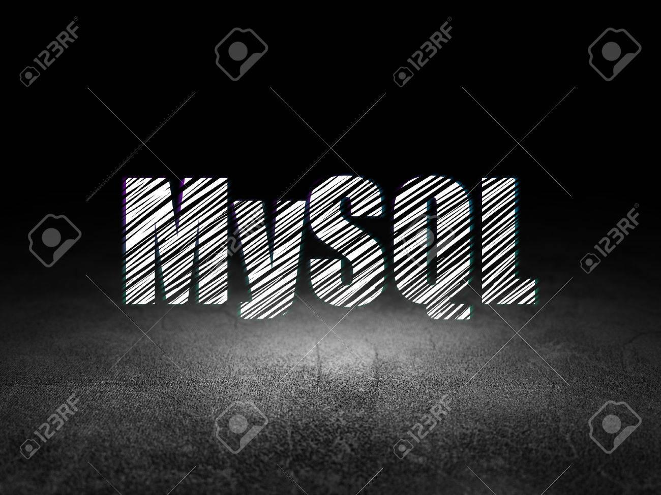 Concepto De Programación: Se Ilumina En El Texto De MySQL En El ...