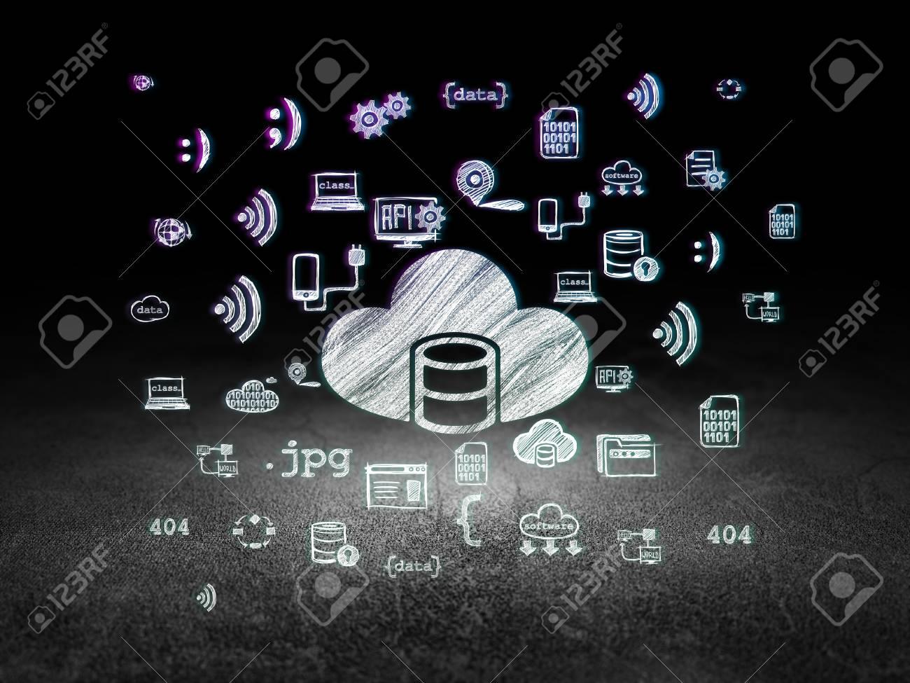 Concepto De Programación: Se Ilumina En La Base De Datos Con El ...