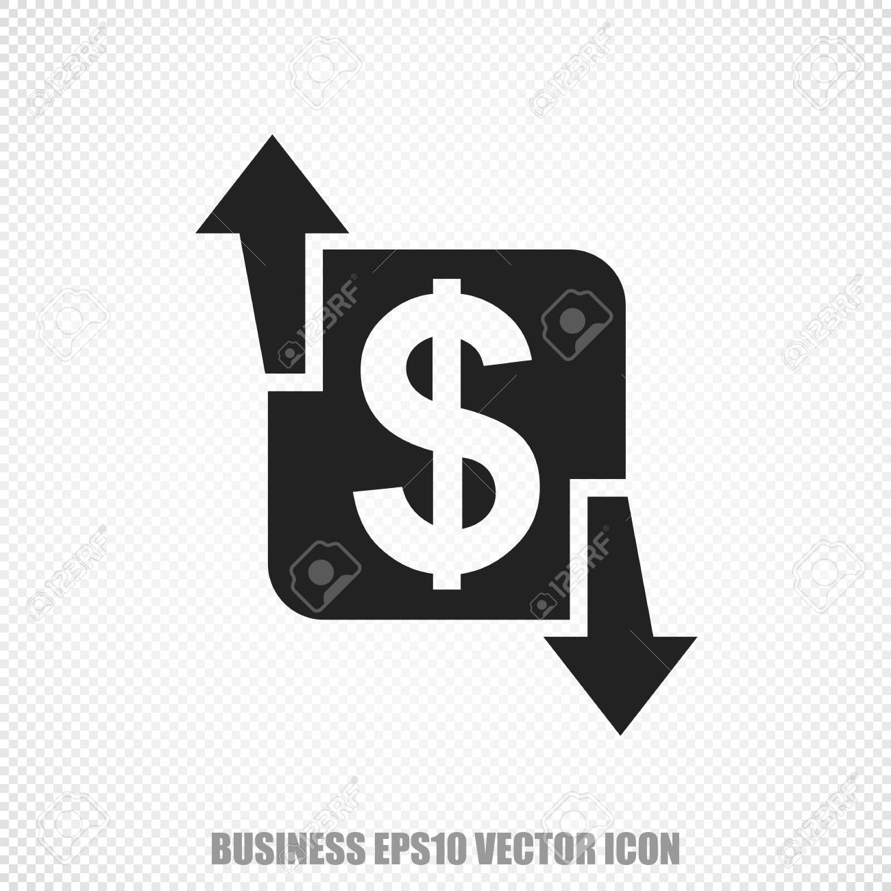 The Universal Icon On The Business Theme Black Finance Modern