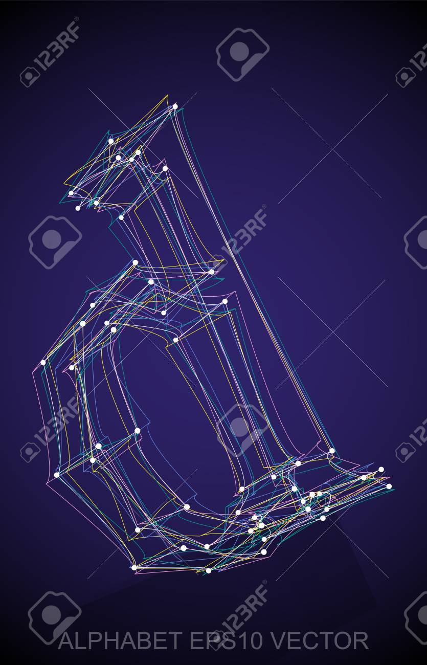 Abstract Illustration Of A Multicolor Sketched Lowercase Letter