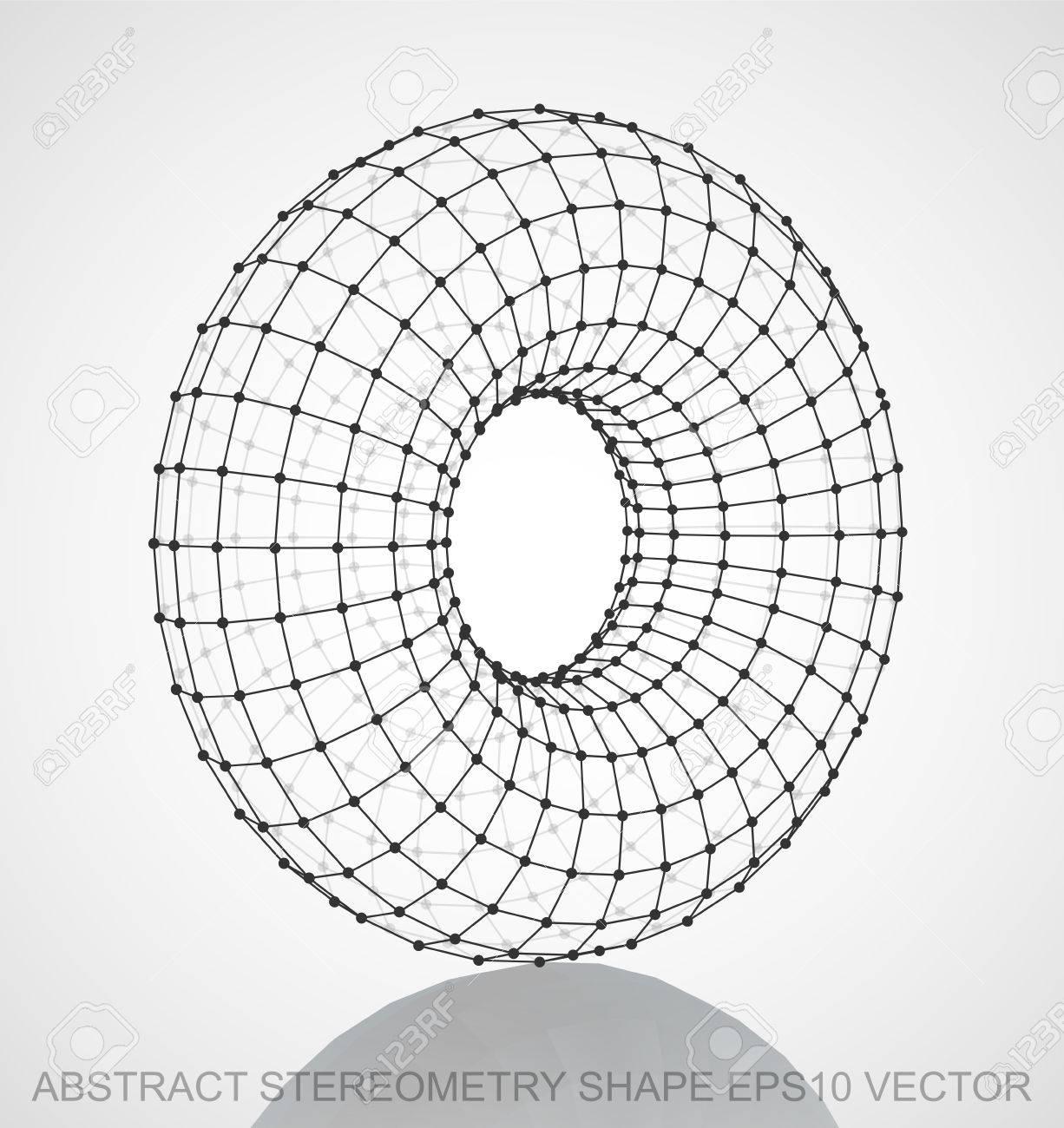 抽象的体積測定術形状: ブラック...