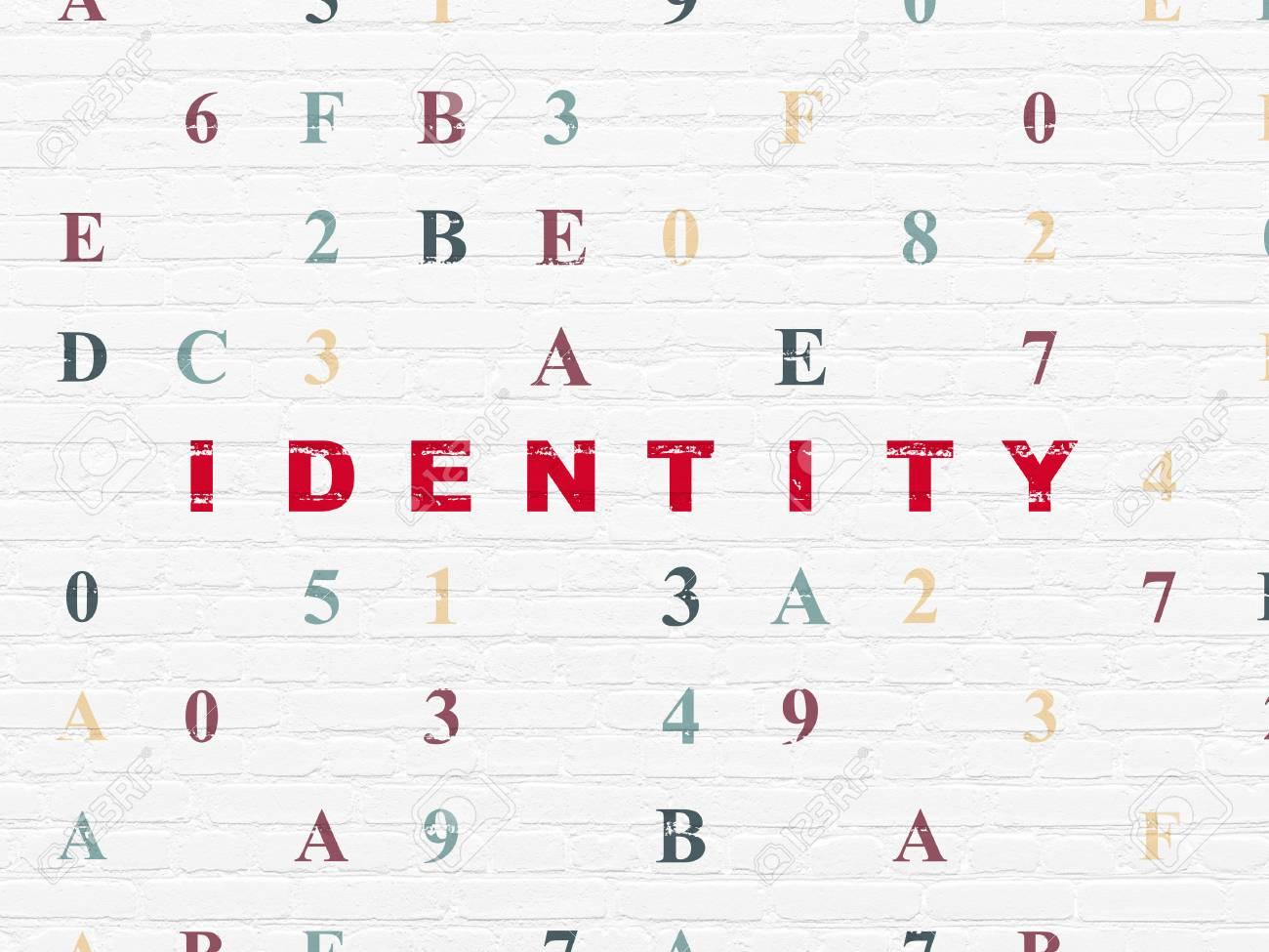 Concept De Confidentialite Identite Textuelle Peinte En Rouge Sur