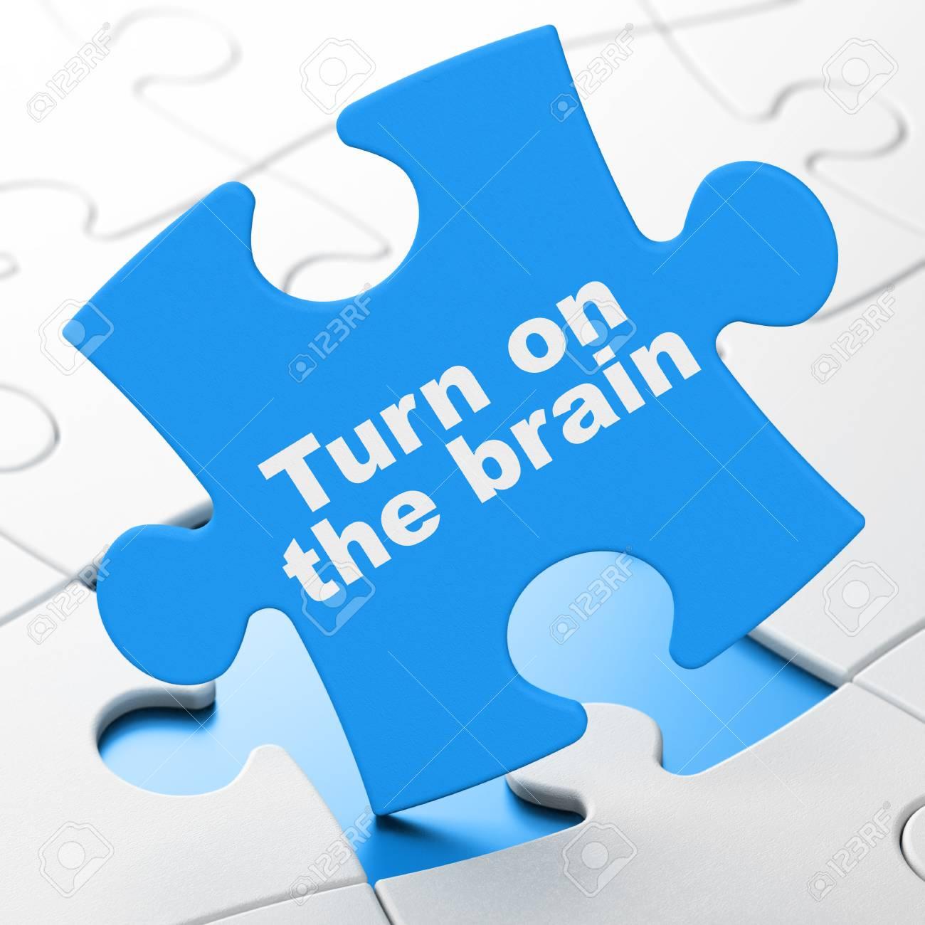 Immagini Stock Concetto Di Studio Accendere Il Cervello Su Sfondo
