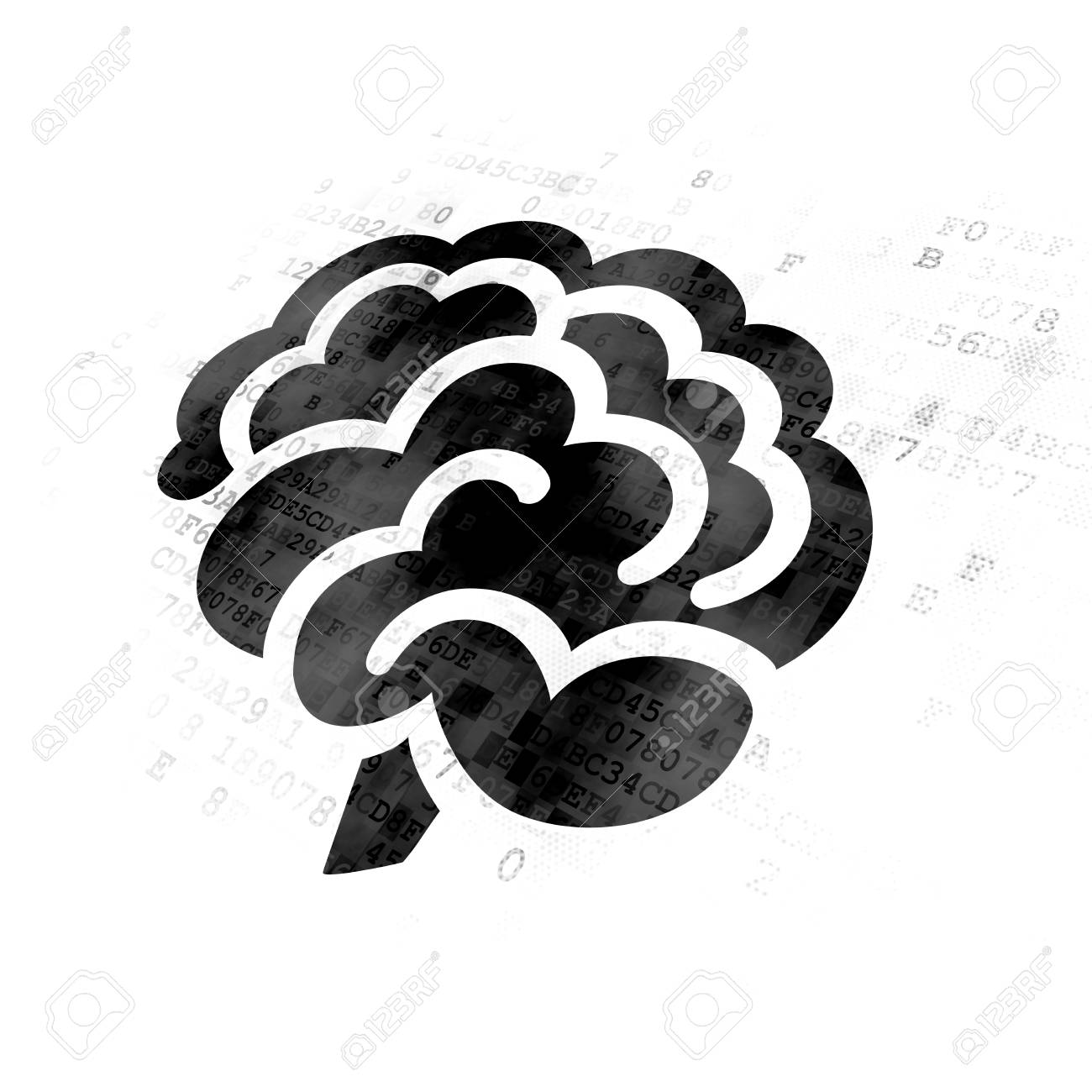 Science concept pixelated black brain icon on digital background science concept pixelated black brain icon on digital background stock photo 80608084 biocorpaavc Images