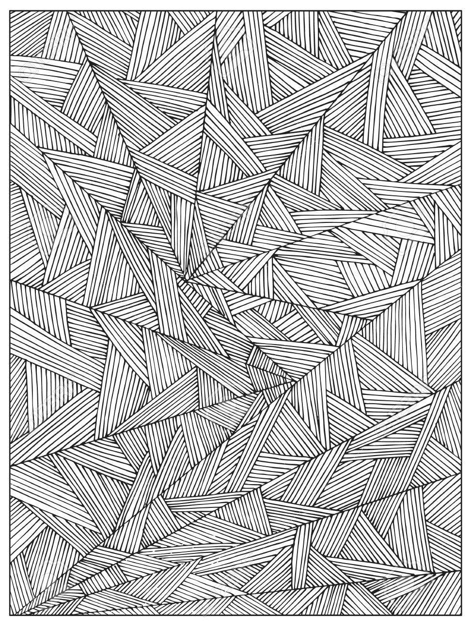 Difficult Uncolored Adult Coloring Book Page With Optical Illusion Royalty Free Cliparts Vectors And Stock Illustration Image 107503045