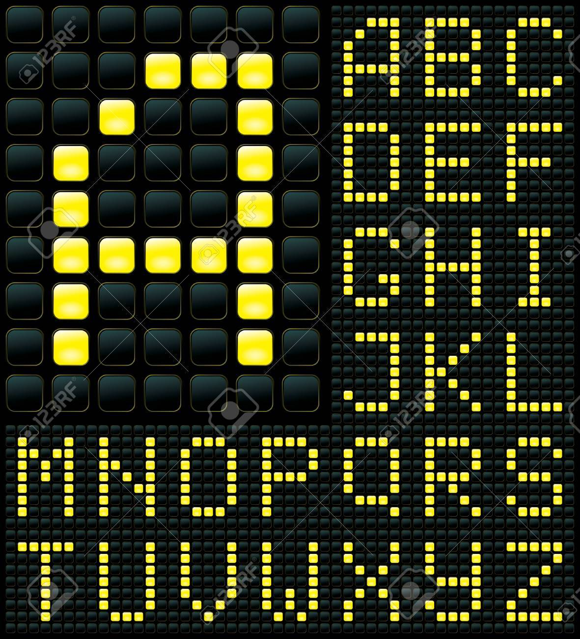 dot matrix display with alphabet Stock Vector - 6994312