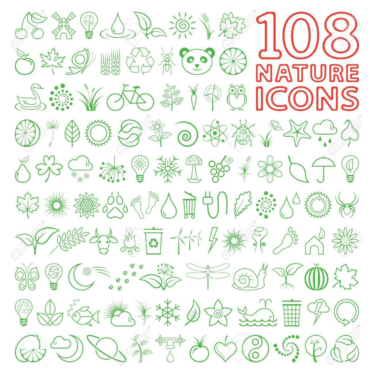 Nature Icons Stock Vector - 7130147