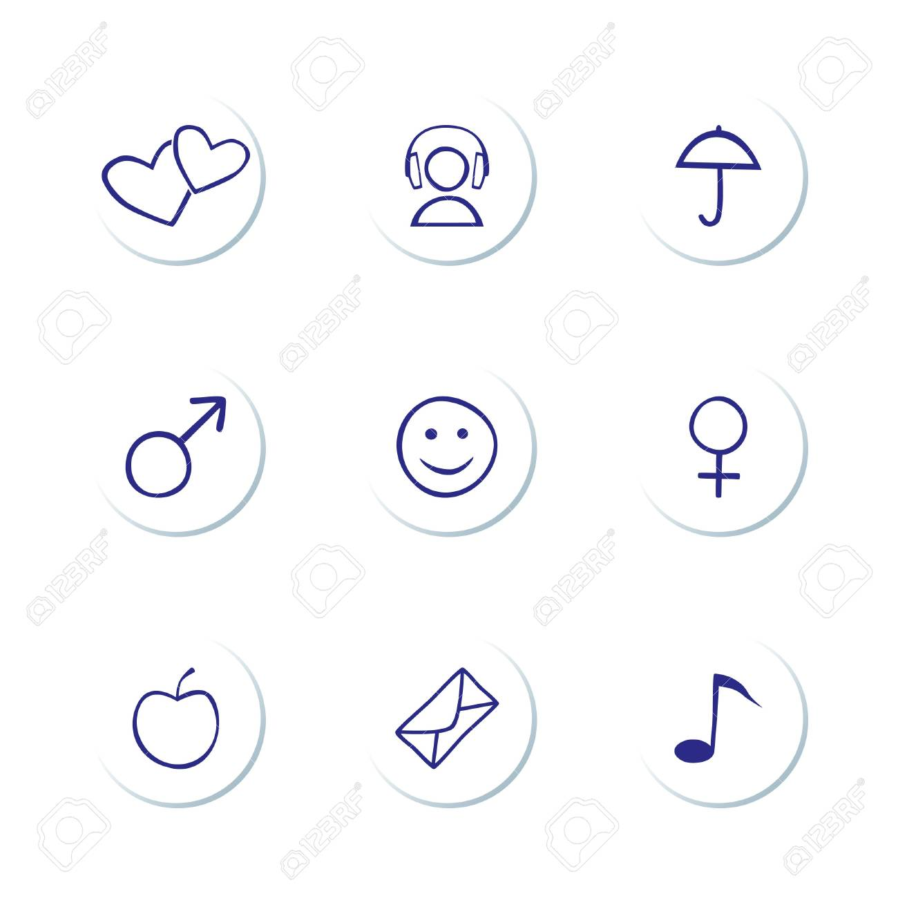 Web Icons Stock Vector - 7130135