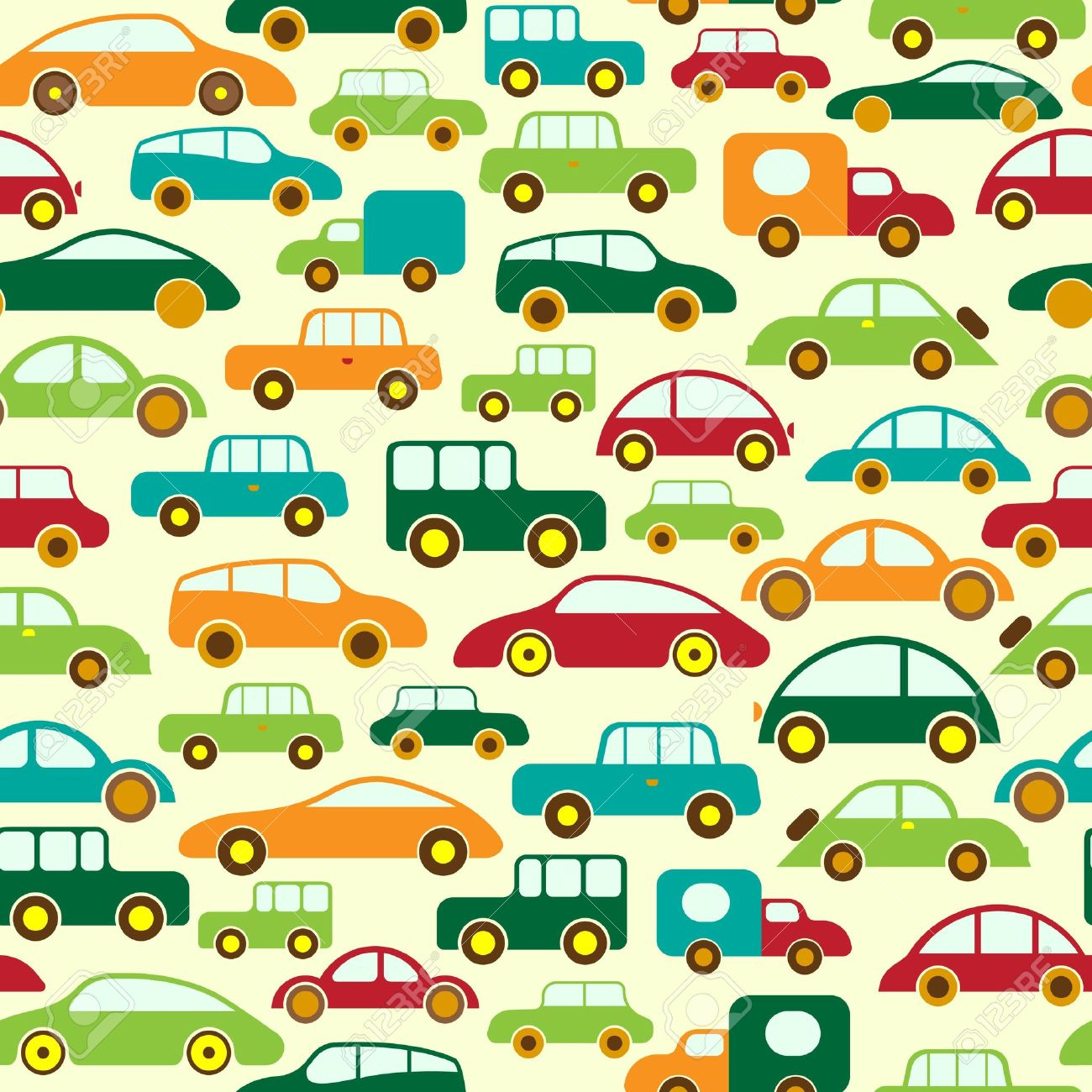 Car Seamless Wallpaper or Background Stock Vector - 7101754