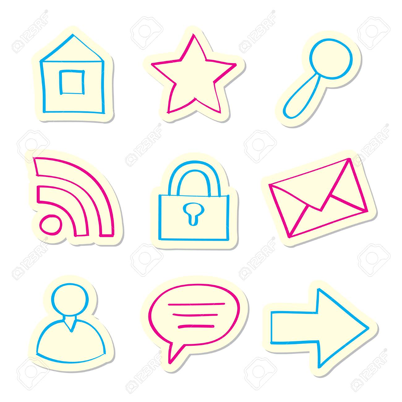 Web Icons Stock Vector - 7694179