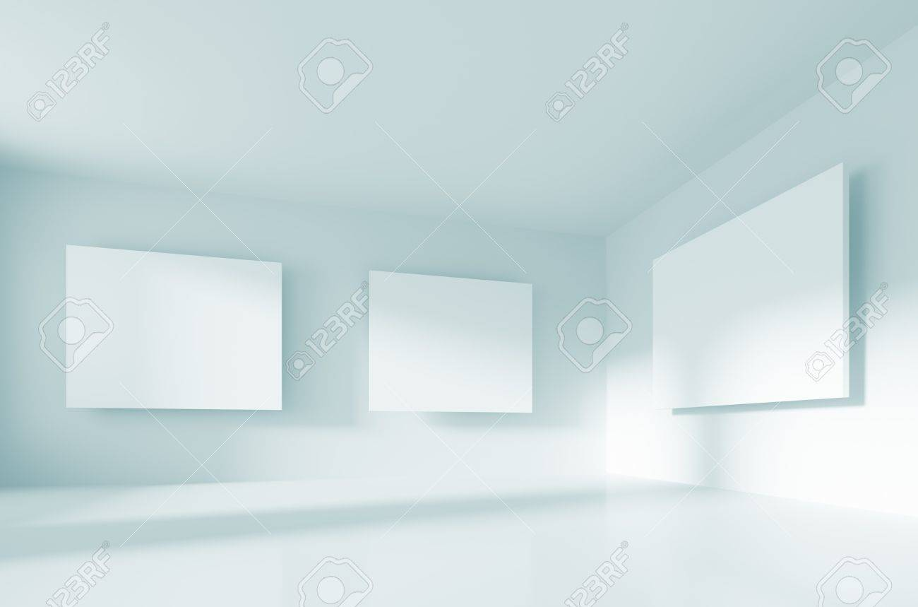 Abstract Gallery Interior Stock Photo - 7910424