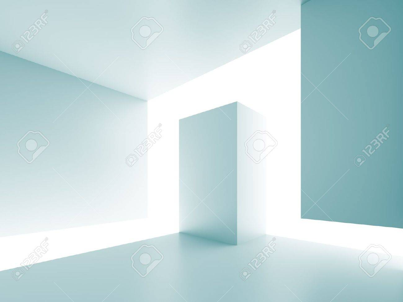 Blue Abstract Architecture Background Stock Photo - 8897981