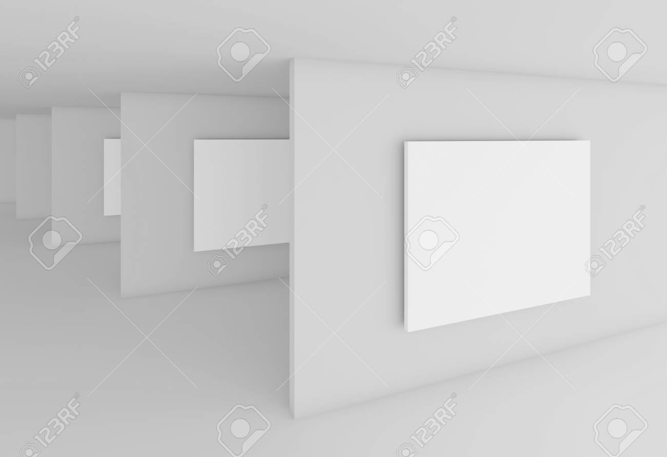 Abstract Gallery Interior Stock Photo - 9313226