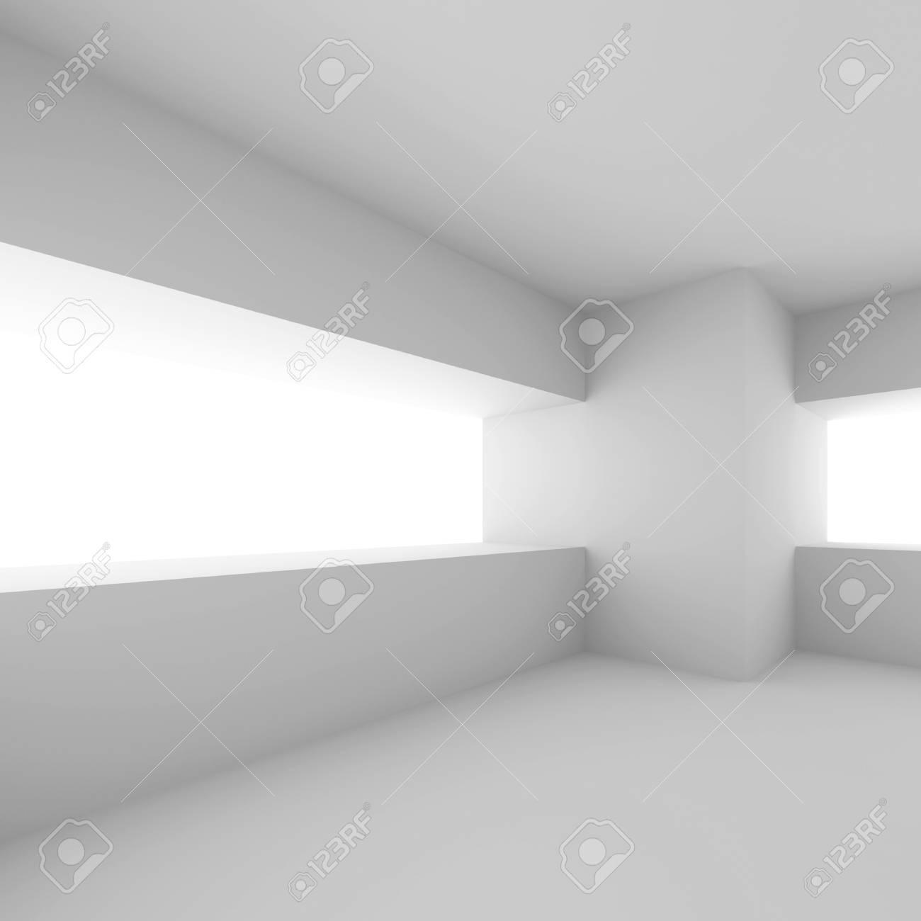 White Modern Empty Room Stock Photo - 10026931