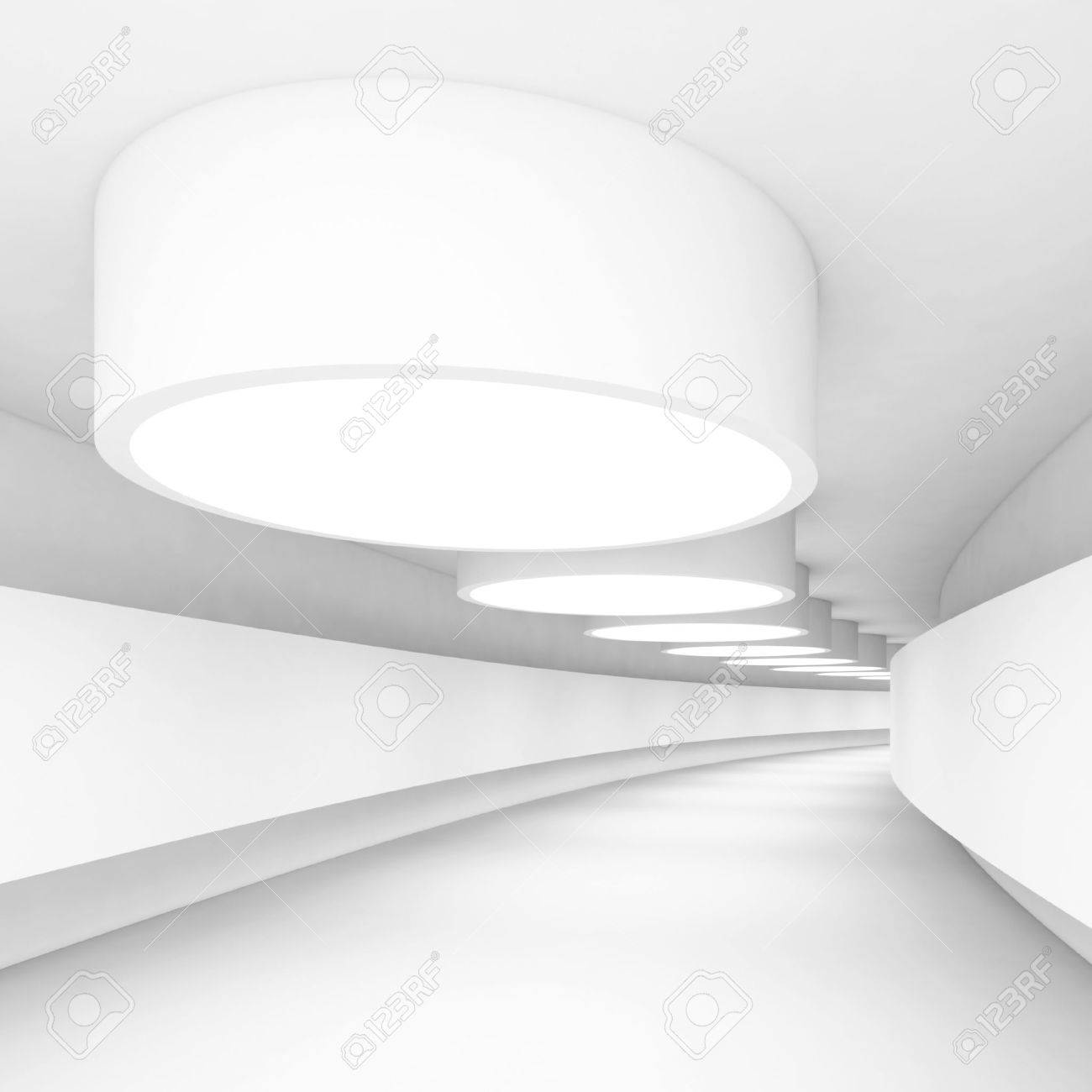 White Abstract Architecture Construction Stock Photo - 10026945
