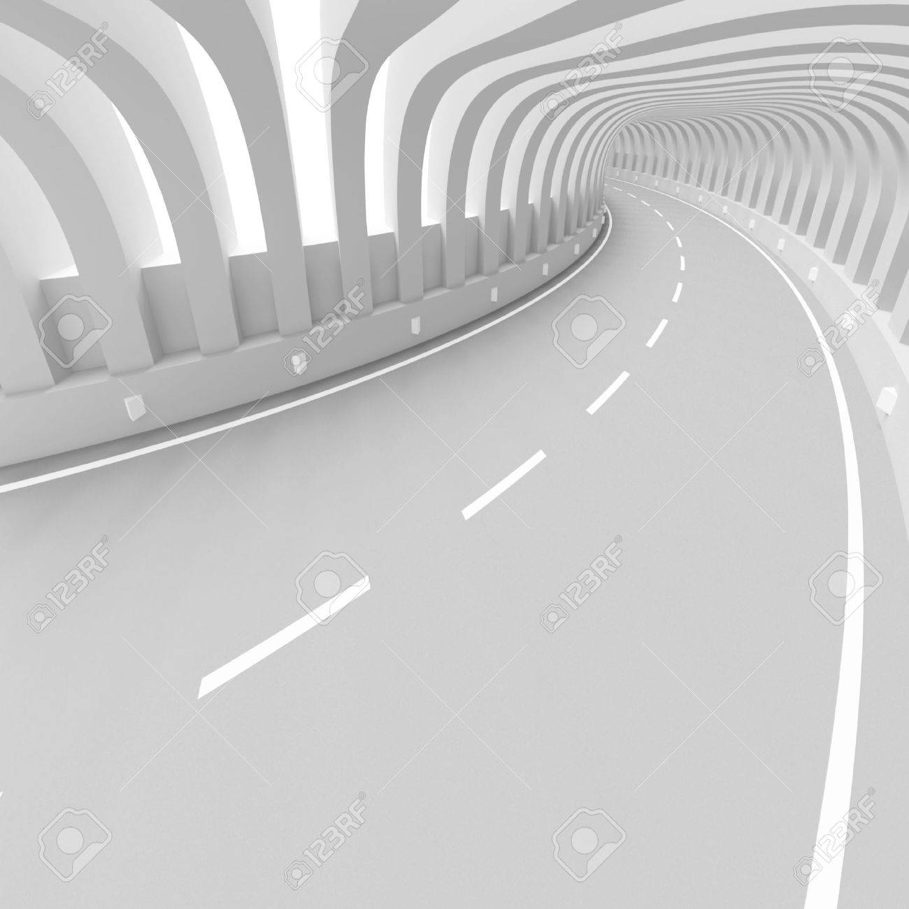 Futuristic Tunnel Background Stock Photo - 10026954