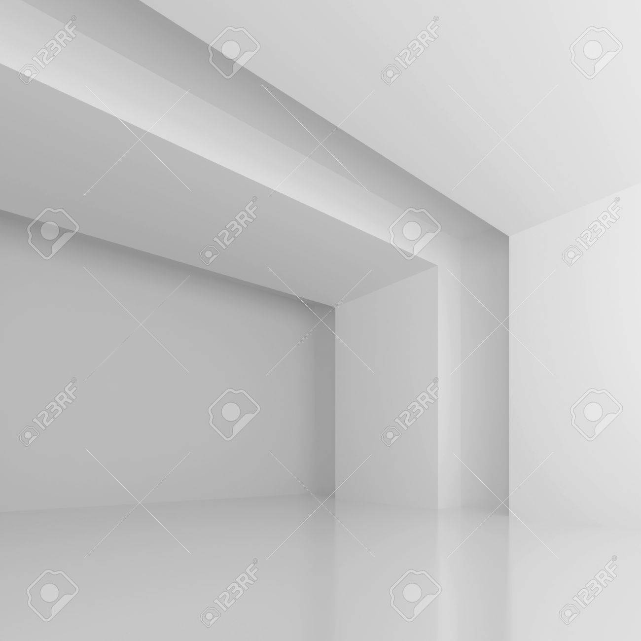 White Futuristic Hall Stock Photo - 10103467