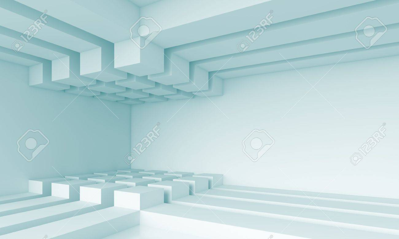 3d Blue Abstract Architecture Background Stock Photo - 14898059