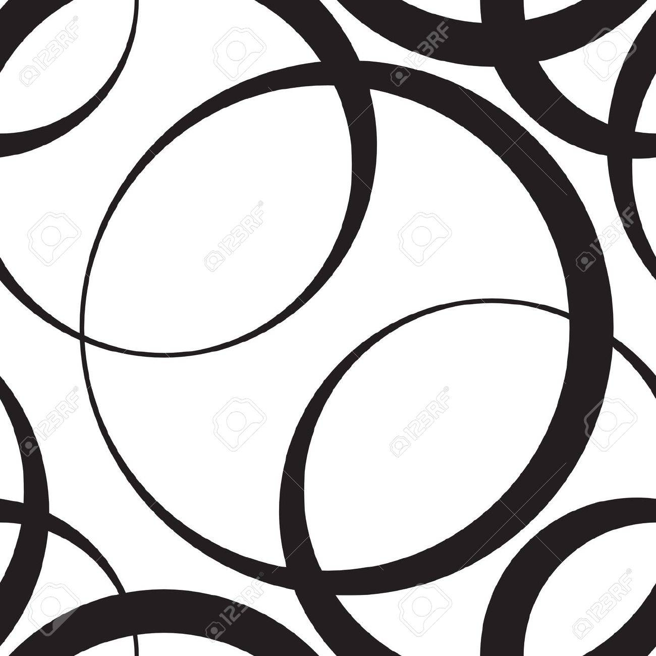 Vector Abstract Seamless Monochrome Background Stock Vector - 21929406