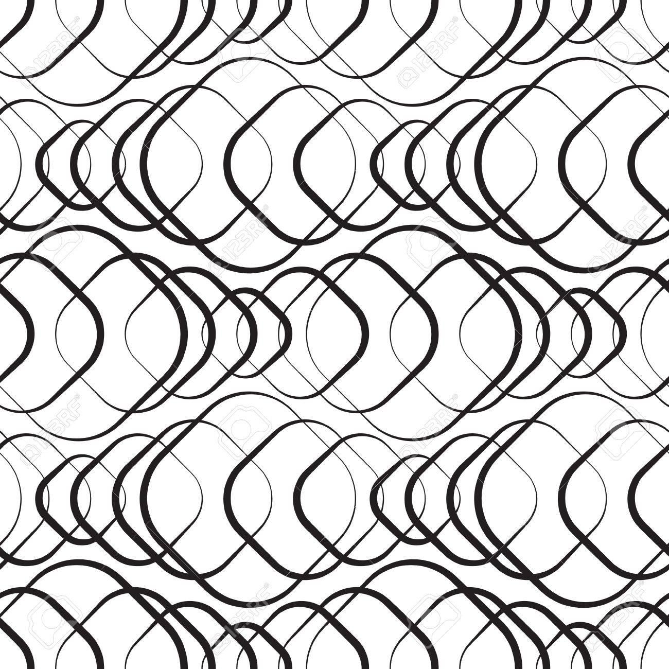 Seamless Monochrome Geometric Wallpaper Stock Vector - 21929408