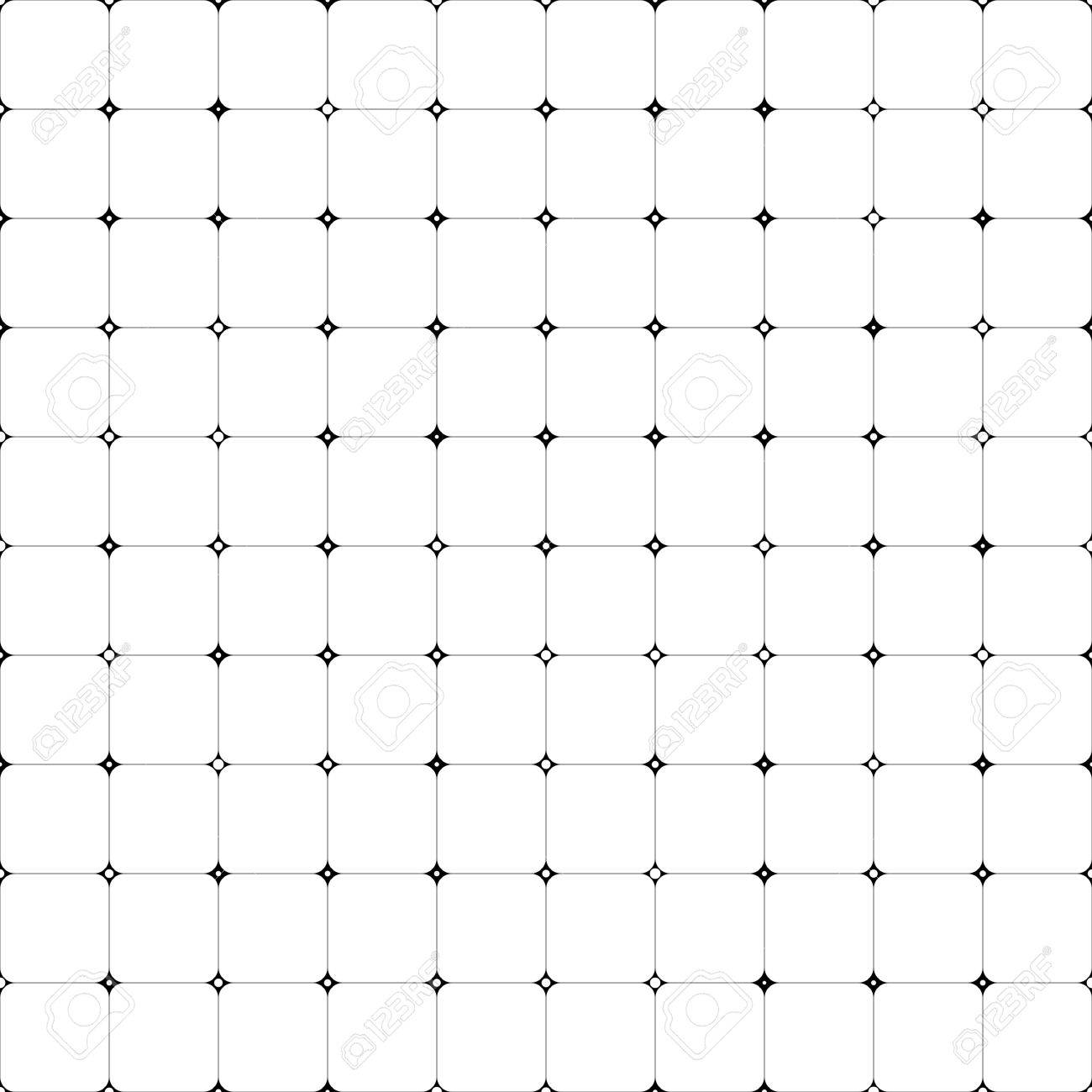 e952c4175eee9 Seamless Grid Pattern. Vector Black and White Background. Regular Texture  Stock Vector - 51705506