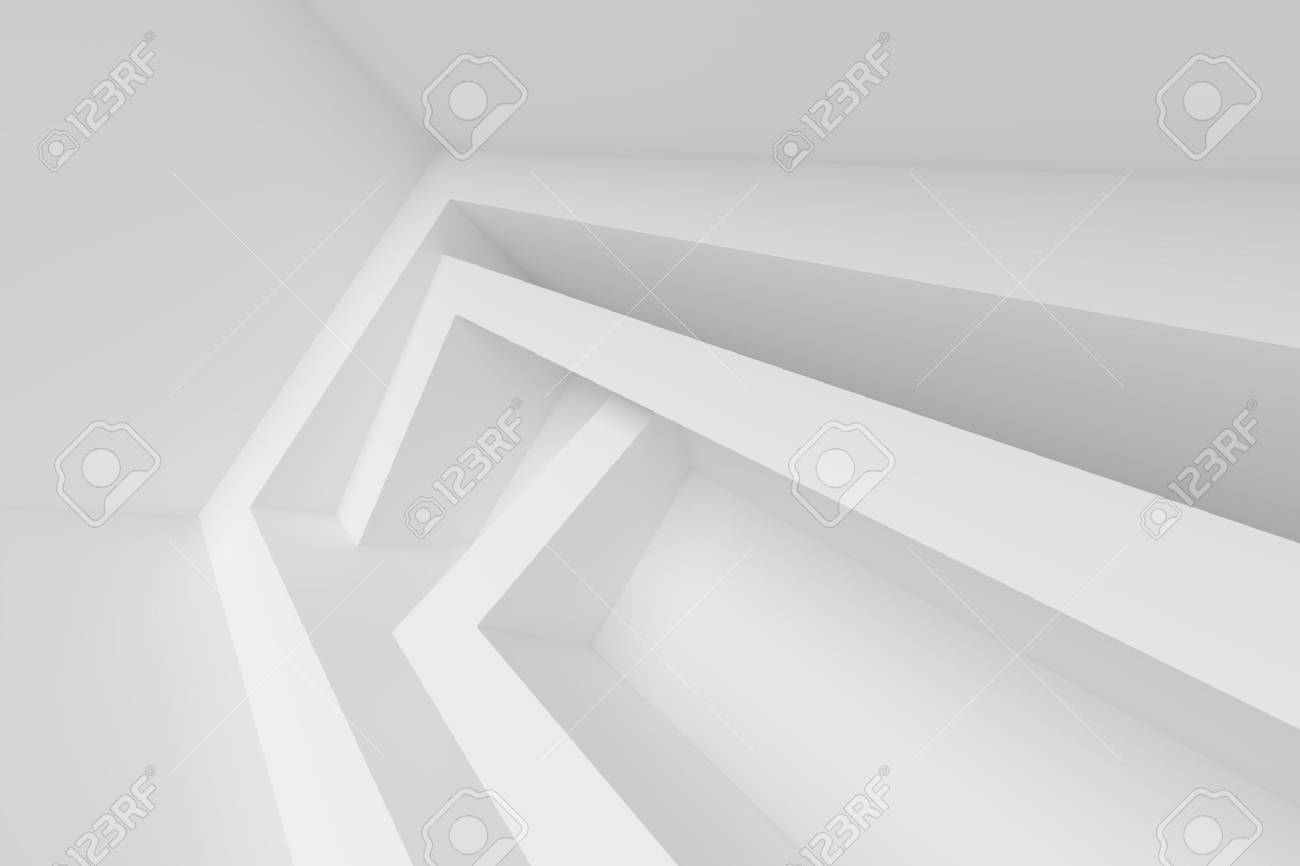 Architecture Design Background 3d abstract architecture design. white modern background stock